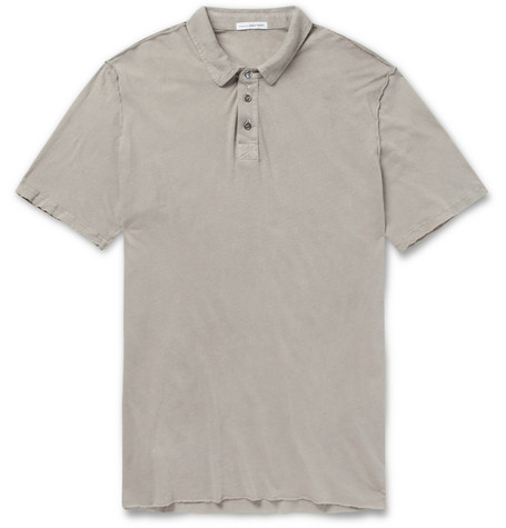 James Perse Slub Linen and Cotton-Blend Polo Shirt
