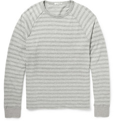 James Perse Striped Cotton-Blend Jersey Sweatshirt