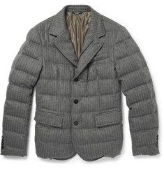 Dolce & Gabbana Quilted Striped Wool-Blend Jacket