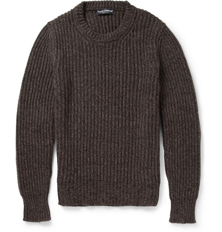 Dolce & Gabbana Chunky Cashmere and Wool-Blend Sweater
