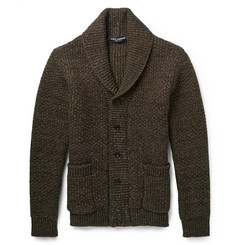 Dolce & Gabbana Virgin Wool Shawl-Collar Cardigan