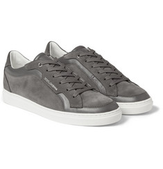 Dolce & Gabbana Suede and Leather-Panelled Sneakers
