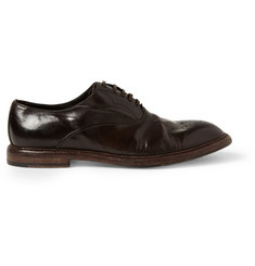 Dolce & Gabbana Washed-Leather Oxford Brogues