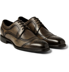 Dolce & Gabbana Burnished-Leather Derby Brogues