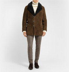 Berluti Shearling and Leather Coat