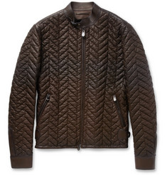Berluti Quilted Leather Jacket