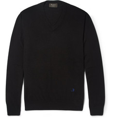 Berluti Fine-Knit Wool V-Neck Sweater