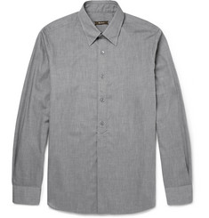 Berluti Herringbone Cotton-Flannel Shirt