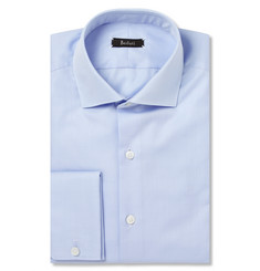 Berluti Blue Herringbone Cotton Shirt