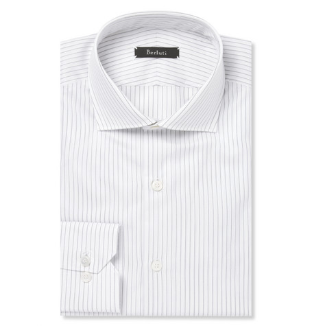 Berluti White Striped Cotton Shirt