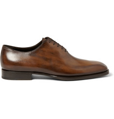 Berluti Alessandro Capri Venezia Leather One-Cut Shoes