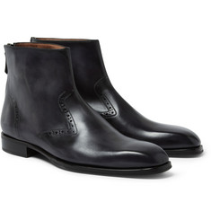 Berluti Venezia Leather Chelsea Boots