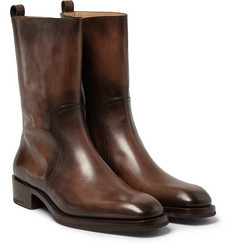 Berluti Venezia Leather Calf Boots