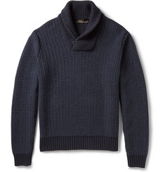 Loro Piana Baby Cashmere Shawl-Collar Sweater
