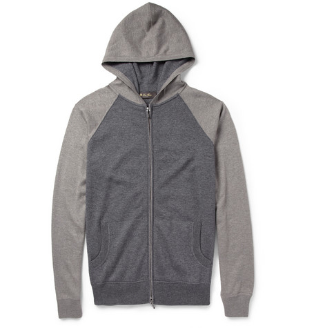 Loro Piana Silk and Cashmere-Blend Hoodie