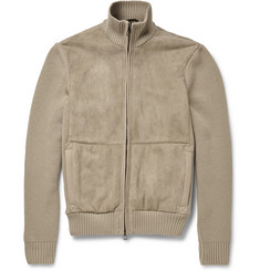 Loro Piana Shearling and Ribbed Cashmere Jacket