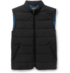Loro Piana Storm System Suede-Trimmed Quilted Gilet