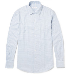 Loro Piana Andre Gingham Cotton-Flannel Shirt