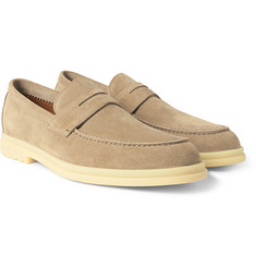 Loro Piana Daily Walk Suede Loafers