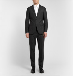 Calvin Klein Collection Grey Patterned Wool-Blend Suit
