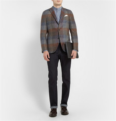 Boglioli Dover Slim-Fit Unstructured Check Wool Blazer