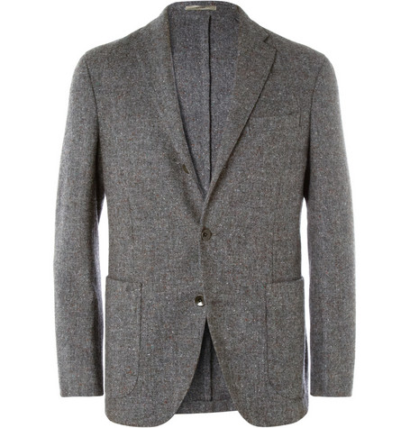 Boglioli Dover Unstructured Flecked Wool Blazer