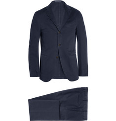 Boglioli Navy Cotton-Blend Suit