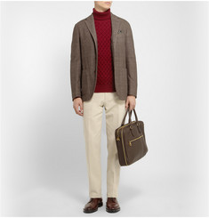 Boglioli Coat Slim-Fit Unstructured Wool, Cotton and Cashmere-Blend Blazer