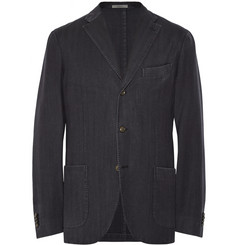 Boglioli Slim-Fit Unstructured Wool-Gabardine Blazer