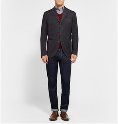Boglioli Slim-Fit Unstructured Herringbone Wool Blazer