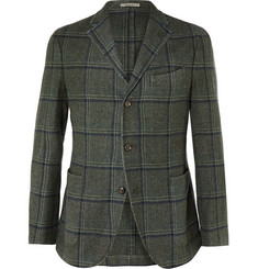 Boglioli Unstructured Wool-Blend Prince of Wales Check Blazer