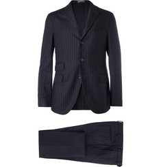 Boglioli Navy Eton Slim-Fit Three-Piece Wool Suit