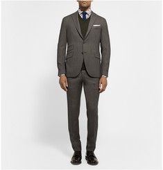 Boglioli Grey Eton Patterned Wool Suit