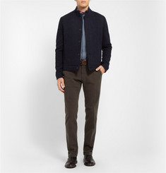 Boglioli Regular-Fit Garment-Dyed Cotton-Blend Trousers