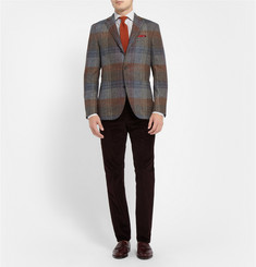 Boglioli Slim-Fit Subtle-Check Cotton Shirt