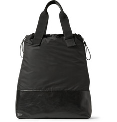 Lanvin Leather and Nylon Tote Bag