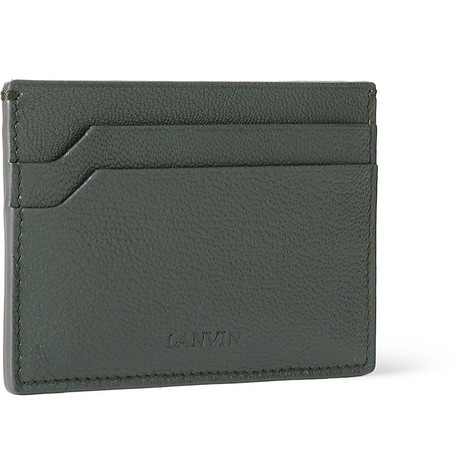 Lanvin Cross-Grain Leather Cardholder
