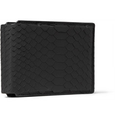 Lanvin Rubberised-Python Billfold Wallet