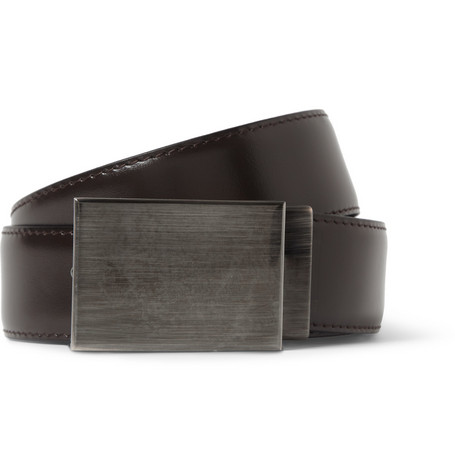 Lanvin Reversible Leather Belt and Changeable Buckles