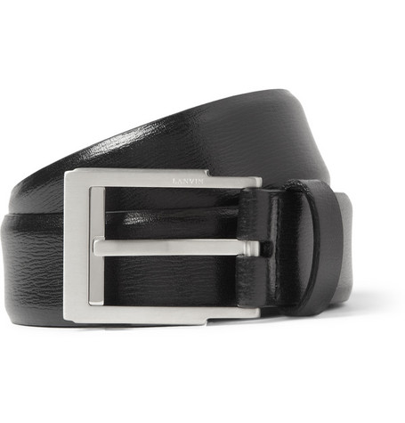 Lanvin Black 3cm Leather Belt
