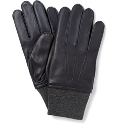 Lanvin Cashmere-Lined Leather Gloves