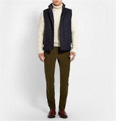 Faconnable Quilted Wool-Flannel Gilet