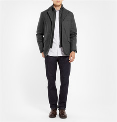 Faconnable Wool-Flannel Jacket with Detachable Insert