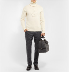 Faconnable Anchor Knitted Wool and Cashmere-Blend Sweater