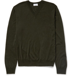 Faconnable Fine-Knit Wool V-Neck Sweater