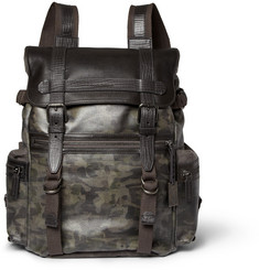 Dolce & Gabbana Leather and Canvas Backpack