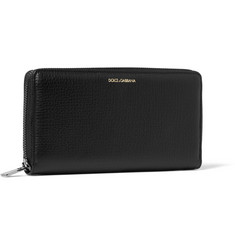 Dolce & Gabbana Zipped Full-Grain Leather Wallet
