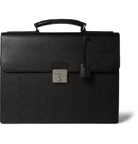 Dolce & Gabbana Structured Full-Grain Leather Briefcase