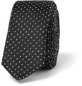 Dolce & Gabbana Gold-Fit Dotted Silk Tie