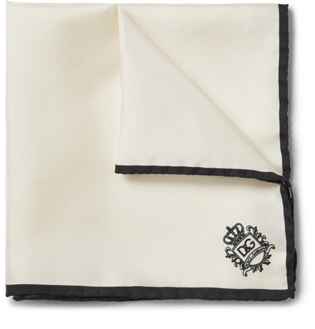 Dolce & Gabbana Silk-Faille Pocket Square